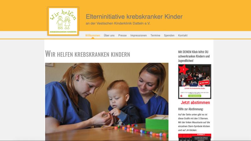 Webseite Elterninitiative Datteln